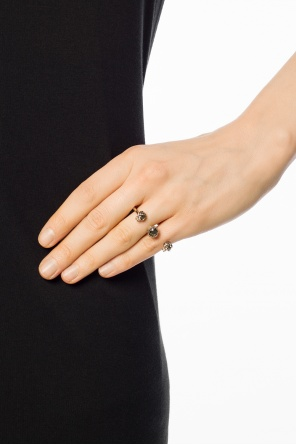 Double ring with skull motif od Alexander McQueen